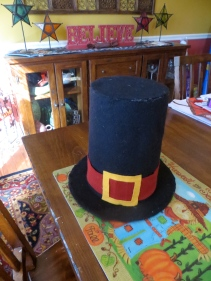 Final Pilgrim hat with buckle.