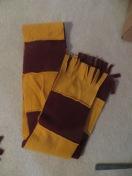 Mom and Dad get home made scarfs - Gryffindor