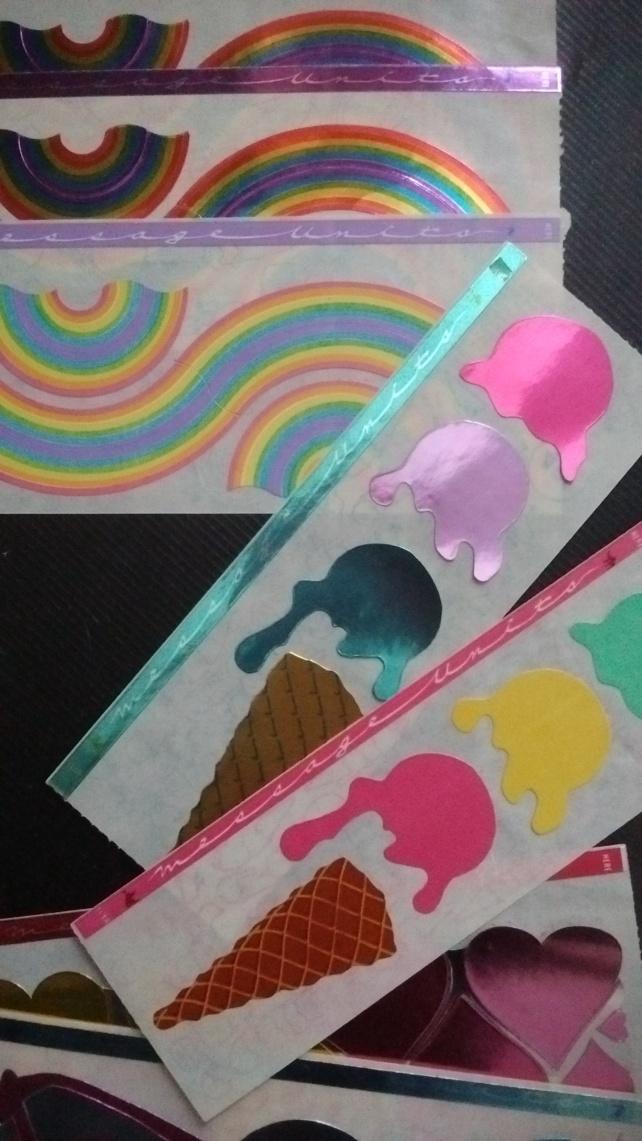 Fun ice cream and rainbows!