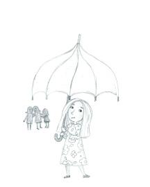 Revised older girl, less stylized sketch